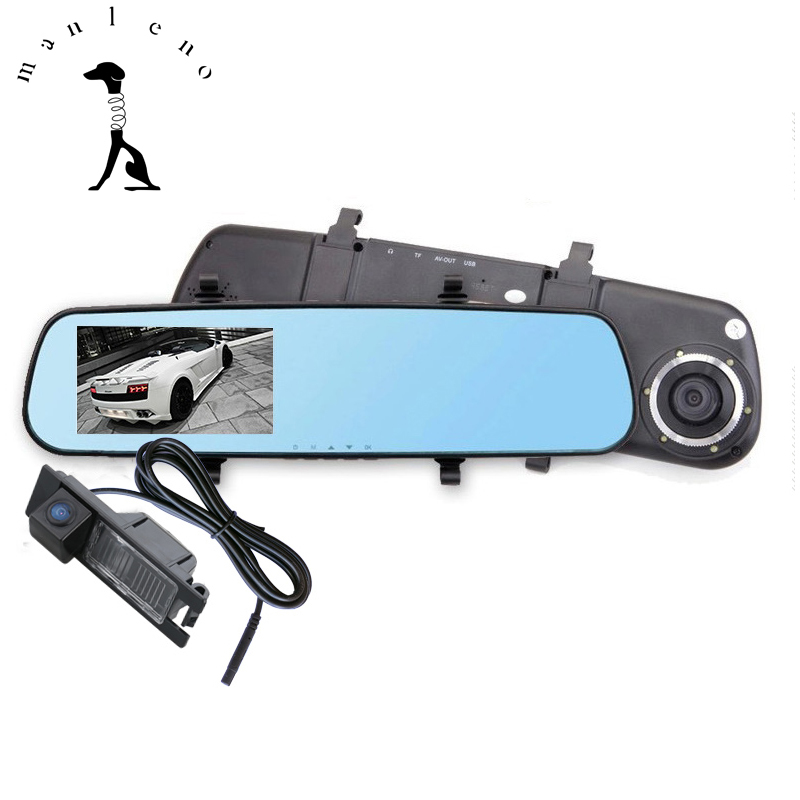 Manleno 1080P Car DVR Mirror Dual Camera DVR Recorder Rear View Mirror With CCD Rear View Camera For Audi VW Volkswagen Hyundai(China (Mainland))