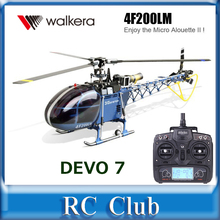 100% Original Walkera Dragonfly 4F200LM With DEVO 7 Transmitter 6-channel CCPM Metal RC Helicopter RTF(China (Mainland))