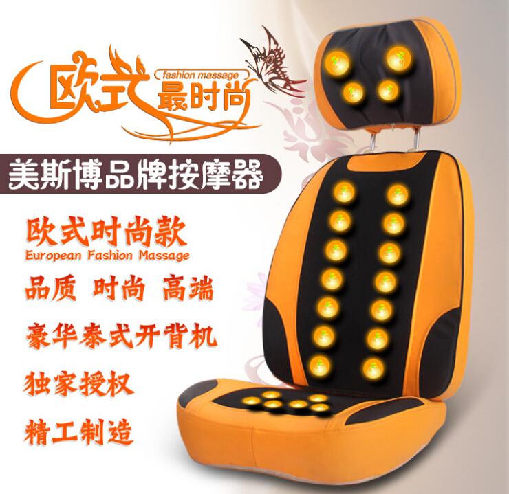 2015 Top sales rolling and shiatsu luxury massage cushion with heating function shiatsu back massager cushion for health care(China (Mainland))