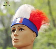 2016 Europe Cup Fan Wig Wholesale synthetic Football fans Wigs Blend Color Flag wig(China (Mainland))