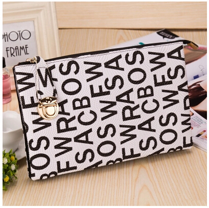 2015 new fashion women envelope bags handbags shoulder bag Day clutch black&white corssbody bags(China (Mainland))