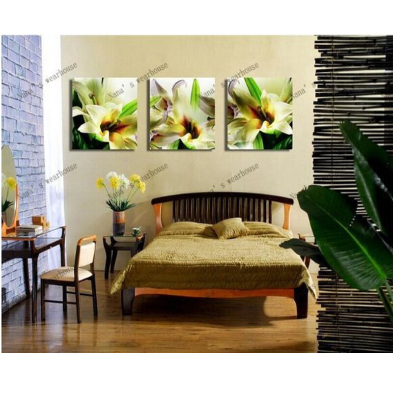 NEW FLOWER lily 3D Diy diamond painting 3SETS square drill full pasted painting cross-stitch embroidery painting diamond