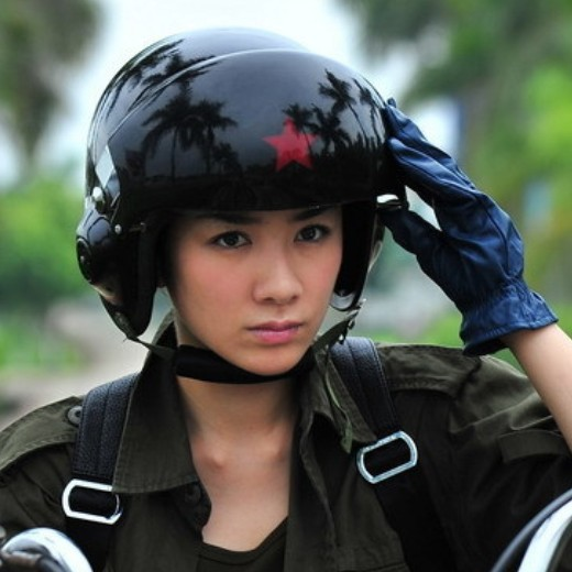 Cool TK Chinese Military Air Force Jet Pilot Open Face Motorcycle Green font b Helmet b