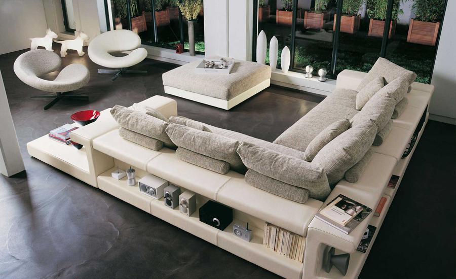 Дизайн угловой диван