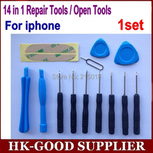 1set 14 in 1 Cell Phones Opening Pry Repair Tool Kit Screwdrivers Tools Set Ferramentas Kit For iPhone 5S 4 Samsung htc Moto etc