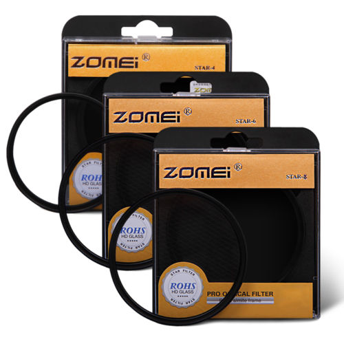 zomei 67mm STAR filter 67 mm Rotating 4 + 6 + 8 Point Star star4+star6+star8 Cross Filter Kit Set free shipping for canon nikon(China (Mainland))