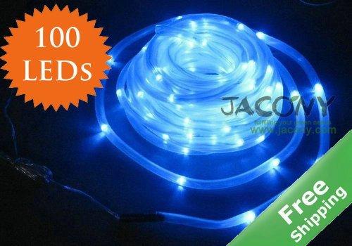 Waterproof 100 LED 12M Solar Christmas Led Lighting Rope PVC TUBE String Light Fairy Garden+Free Shipping