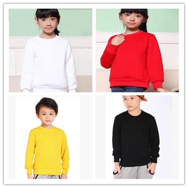 Дети в одежда осень мальчик и девочка толстовка 100% хлопок с круглым вырезом длинная ...