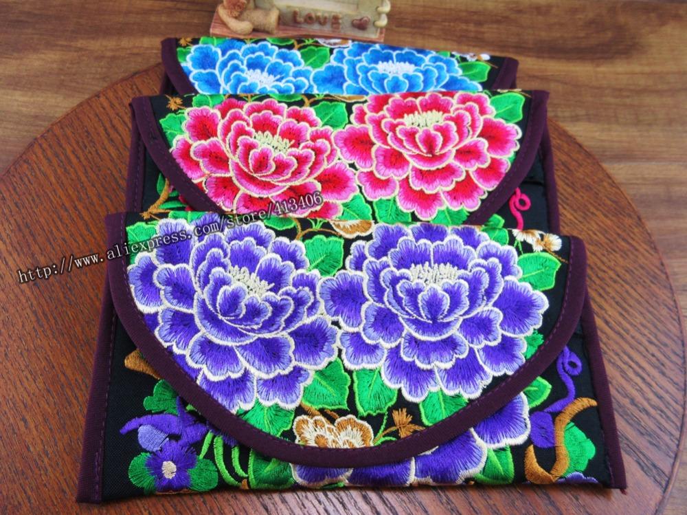 3 pcs Wristlet bag vintage Hmong Thai Indian embroidered bag Fashionable clutch purse Boho Hippie Ethnic