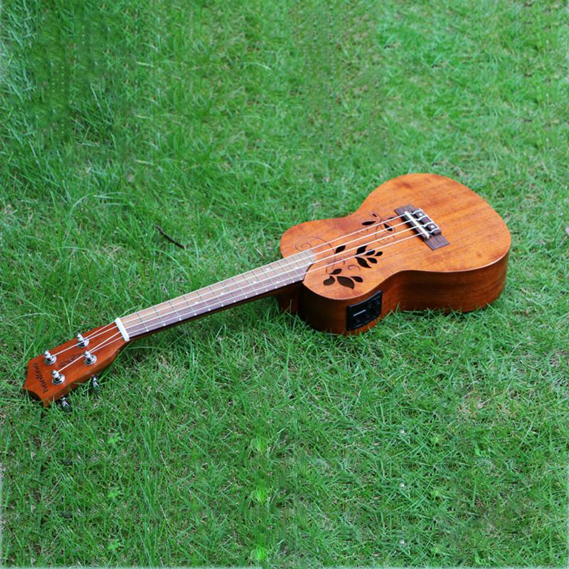 """23"""" concert Ukulele Guitar+EQ Mahogany musical stringed instruments mini Handcraft wood uke child guitarra ukelele free shipping(China (Mainland))"""