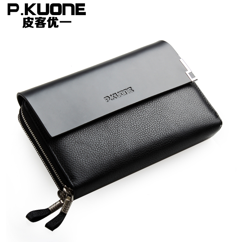 Maxwell Promotion High Quality Excellent Real First Layer Genuine Leather Men Clutch Bags Purse Wallet MW