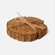 8pcs/set Vintage Creative Stump Style Natural Cork Coaster Tea Coffee Cup Mat Table Kitchen GadgetsHome Decoration Gift(China (Mainland))