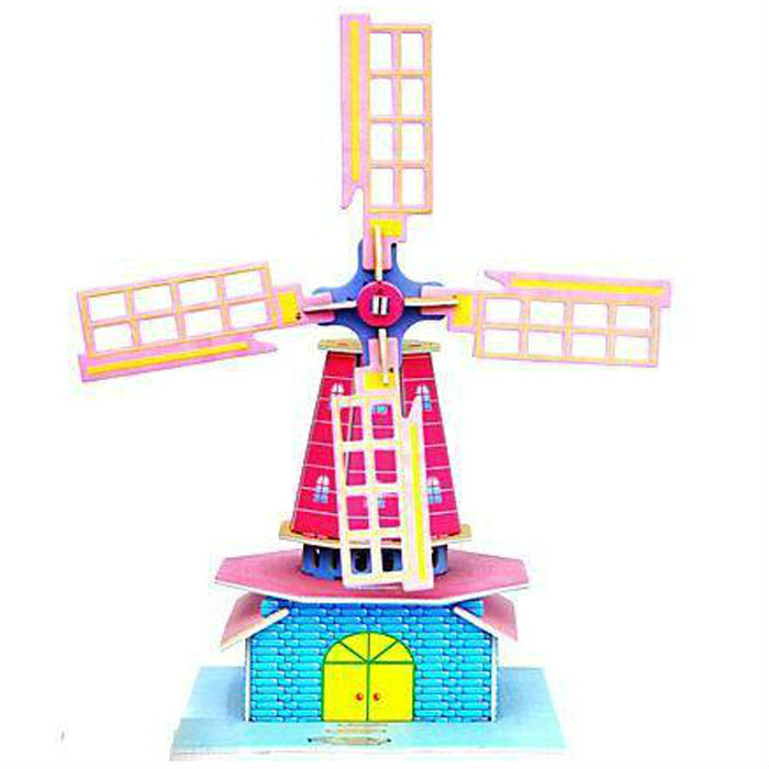 Educational Toys Holland Windmill & Diy 3D Puzzle Model & Special Toy and Gift for Children,528,Free Shipping(China (Mainland))