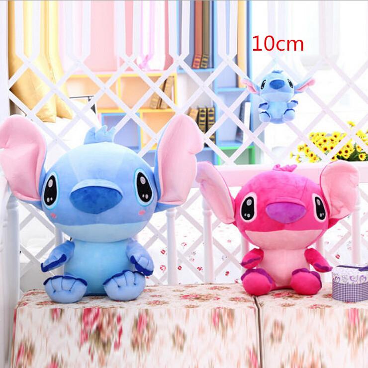 Super Cute Lilo and Stitch Plush Doll Toys, 1pcs 10cm Lovely Stitch Toys keychain pendant, Plush Animals Christmas gifts(China (Mainland))