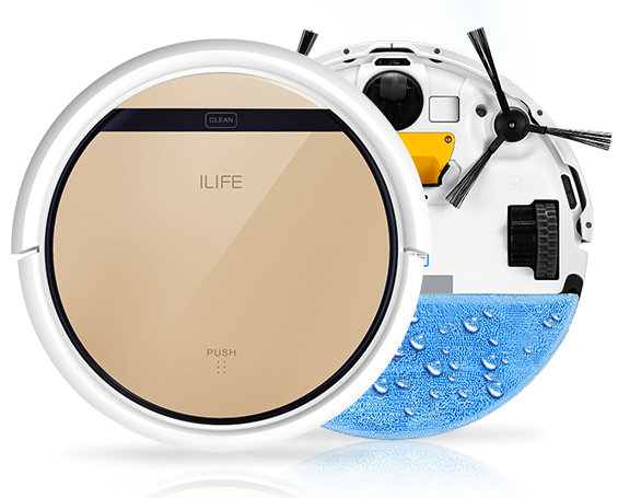 Robotic Vacuum Cleaner ILIFE V5S (with extra spare package) floor Sweeping Machine robot vacuum cleaner Wet and Dry Clean(China (Mainland))