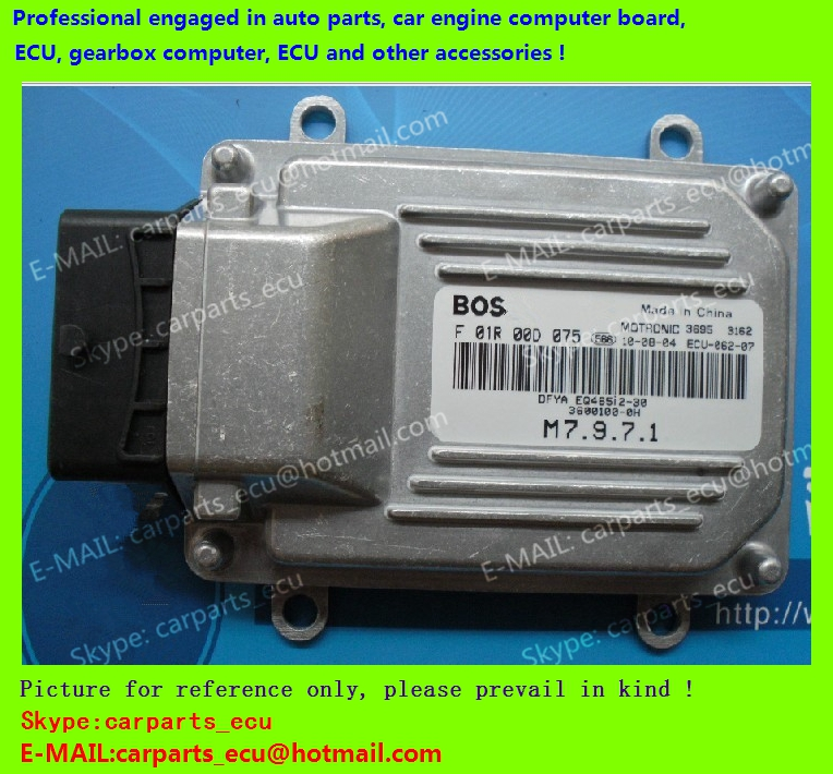 For Dongfengxiaokang car engine computer board/ECU/ Electronic Control Unit/Car PC/ F01R00D075 3600100-0H /driving computer(China (Mainland))