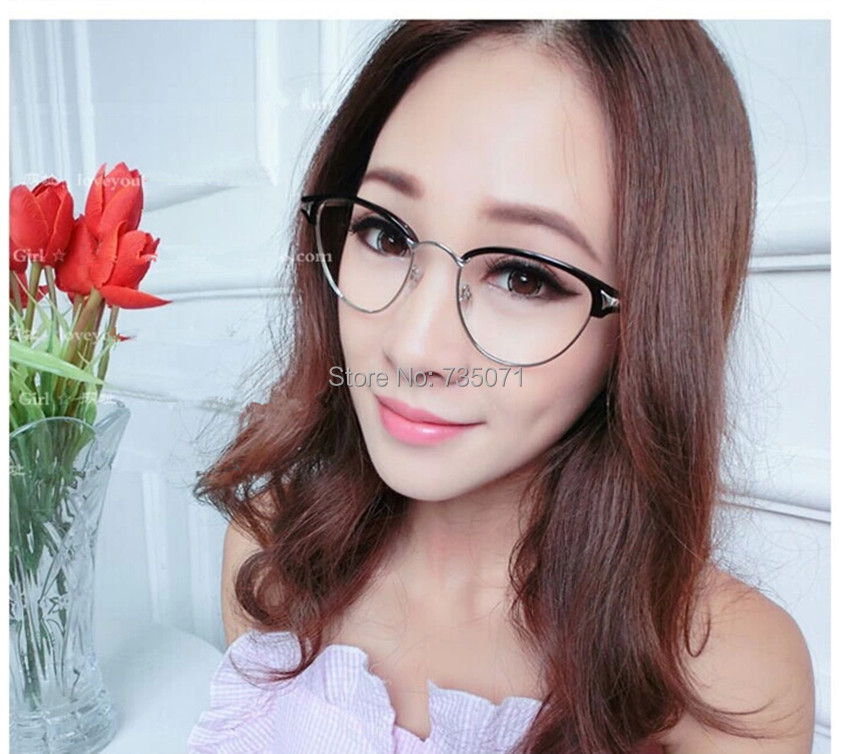 Thin Framed Fashion Glasses : Hipster vintage metal thin frame glasses,women fashion ...