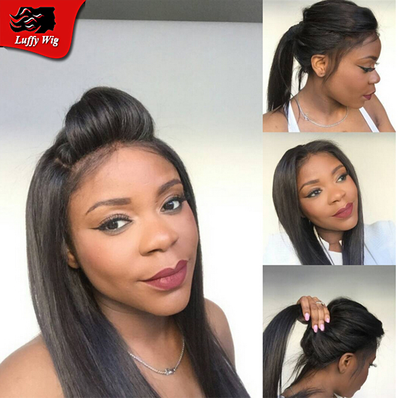 Top Grade Straight Full Lace Human Hair Wigs Glueless Lace Front Wig Straight Virgin Indian Full Lace Wig For Black Woman Stock<br><br>Aliexpress