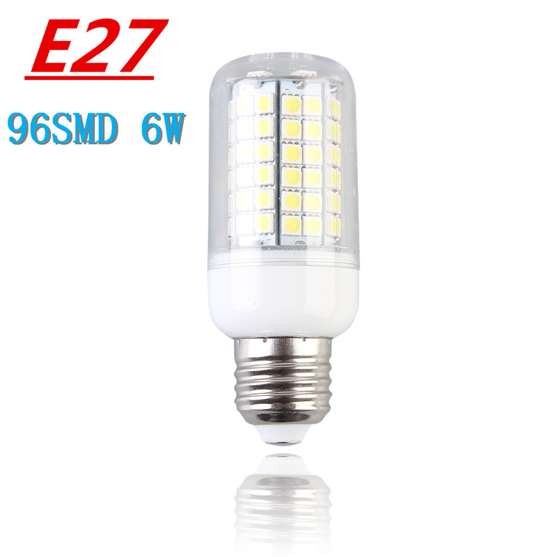 1pcs Smart IC led lamp 220~240V Corn Bulb E27 Lamp 6W 5050 led 96 smd lights & lighting Energy Efficient home lighting(China (Mainland))