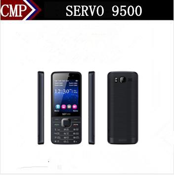 Original SERVO 9500 Quad Sim Card Mobile Phone 2.8 Inch 4 SIM cards 4 standby MP3 Camera FM Bluetooth Russian Keyboard Arabic(China (Mainland))
