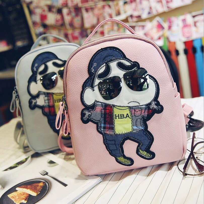 2016 Children School Bags Cool hip-hop personality Backpacks Baby Girl School Bag Lovely Cartoon Backpack For Kindergarten Kids(China (Mainland))