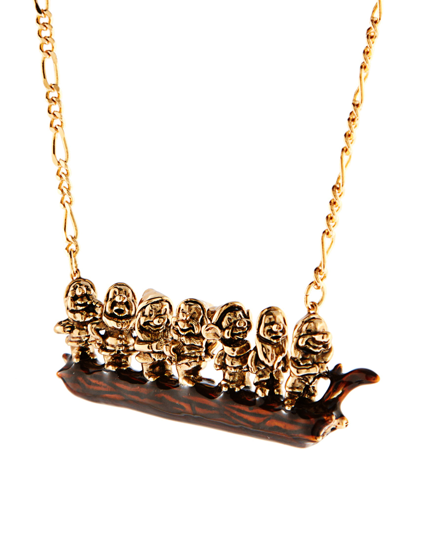 France Luxury jewelry Les Nereides - N2 Seven Dwarfs exaggerated sweater chain necklace SD0089(China (Mainland))