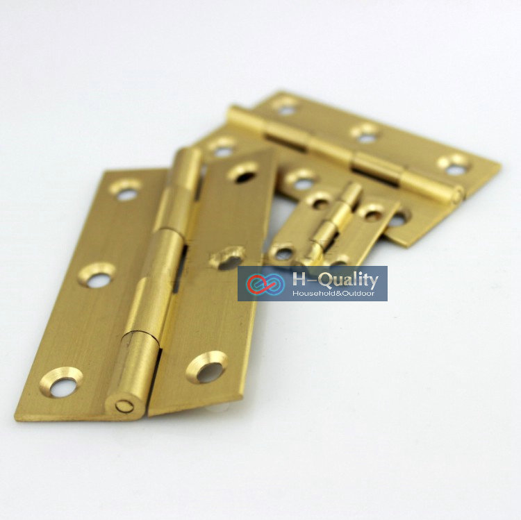 Free Brass Screw 10PC/Lot Beatiful Wire Drawing Surface 3.5 Inch (90MM) Length Solid Fresh Brass Hinge, Antique Brass Door Hinge<br><br>Aliexpress