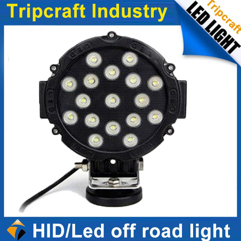 50% discount Car accessory led light bulb atv utv 51w cree led work light 4x4 off road led work light for truck auto part(China (Mainland))