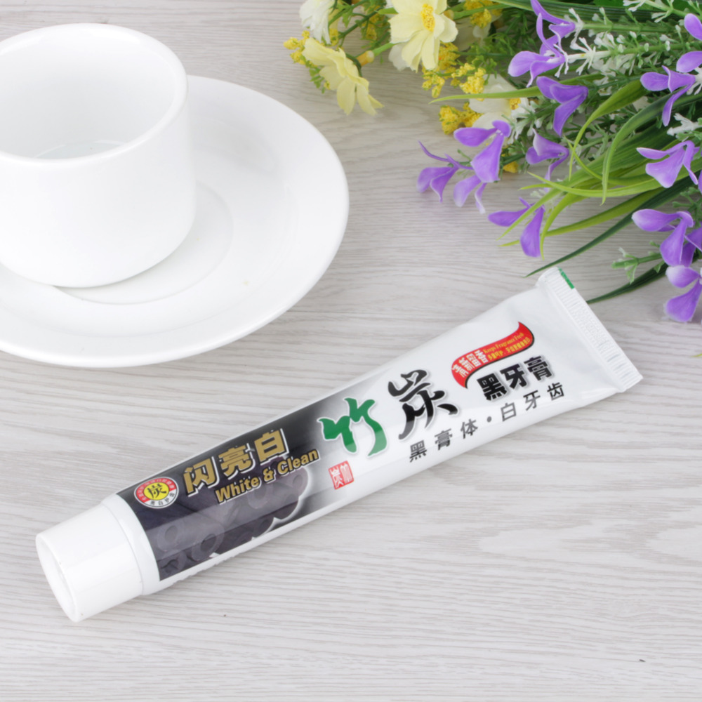 Bamboo charcoal black toothpaste anti-halitosis go smoke stains to stain teeth whitening Oral Care whitening toothpaste 2016