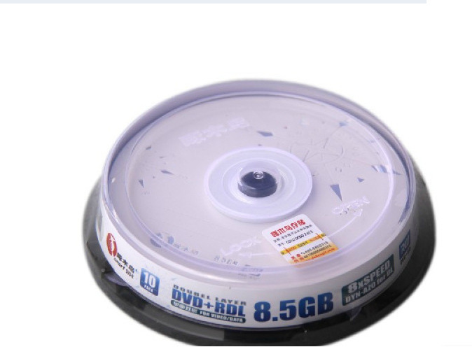 10 pcs/lot High Speed 8X Burn Discs Woodpecker Double Layer DVD+R DL 8.5GB Blank Recordable Discs DVD1001(China (Mainland))