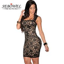 Buy SEBOWEL 2017 Elegant Black Short Lace Dress Summer Sexy Sleeveless Club Dresses Women Lace Bodycon Party Dress Vestido De Festa for $14.95 in AliExpress store