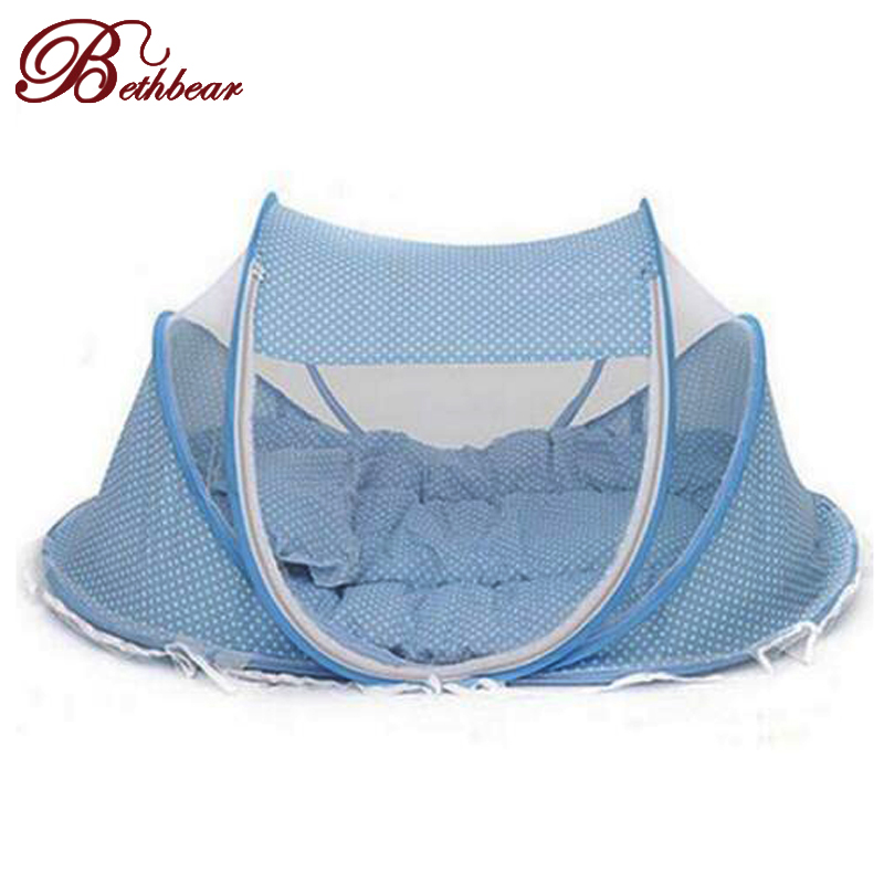 New Spring Winter 0-36 Months Baby Bed Portable Foldable Baby Crib With Netting Newborn Sleep Bed Travel Bed Baby Cotton Blend(China (Mainland))