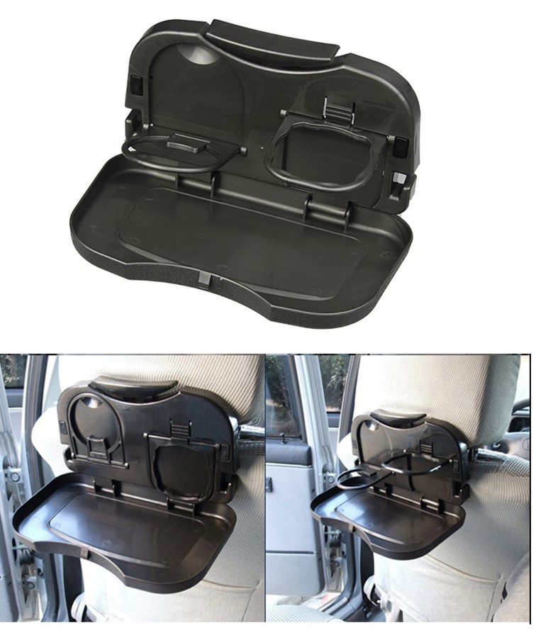 Car drink holder After The Chair Dining Table The Seat Back Drink Holder cup holder Car Folding Dinner Plate YA100(China (Mainland))