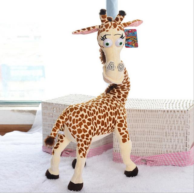 2014 Горячие Продаем 35 СМ Long Neck Жираф Фаршированные Плюшевые Игрушки Мадагаскар 3 Милые Куклы для Детей Высокого Качества Завод цена