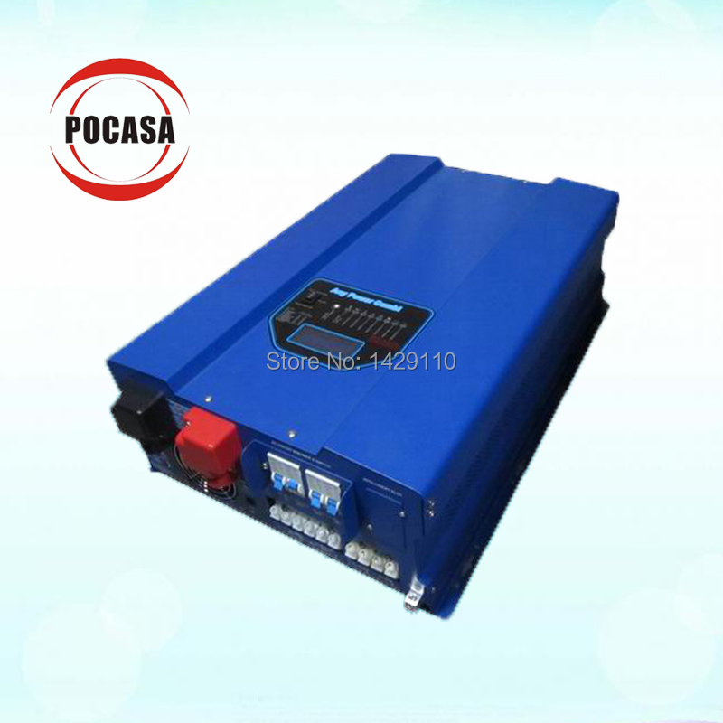Free shipping Solar off grid mpp inverter 5KW pure sine wave inverter charger 70A charge current dc ac inverter(China (Mainland))