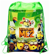 New Cute Despicable Me bag Minion Plush Backpack Child PRE School Kid Boy and Girl Cartoon