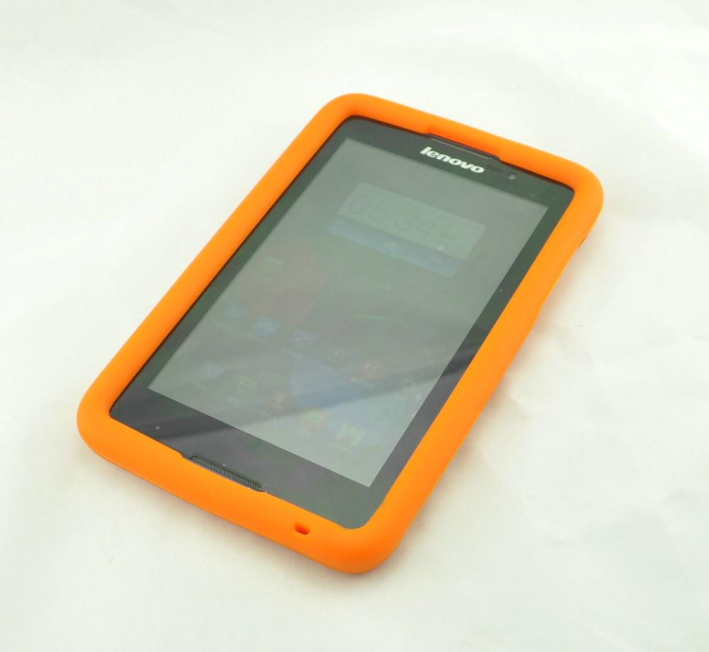 Drop resistance tablet case for Lenovo 7 inch A3500 A7-50 FDA silicone bumper cover-Orange(China (Mainland))