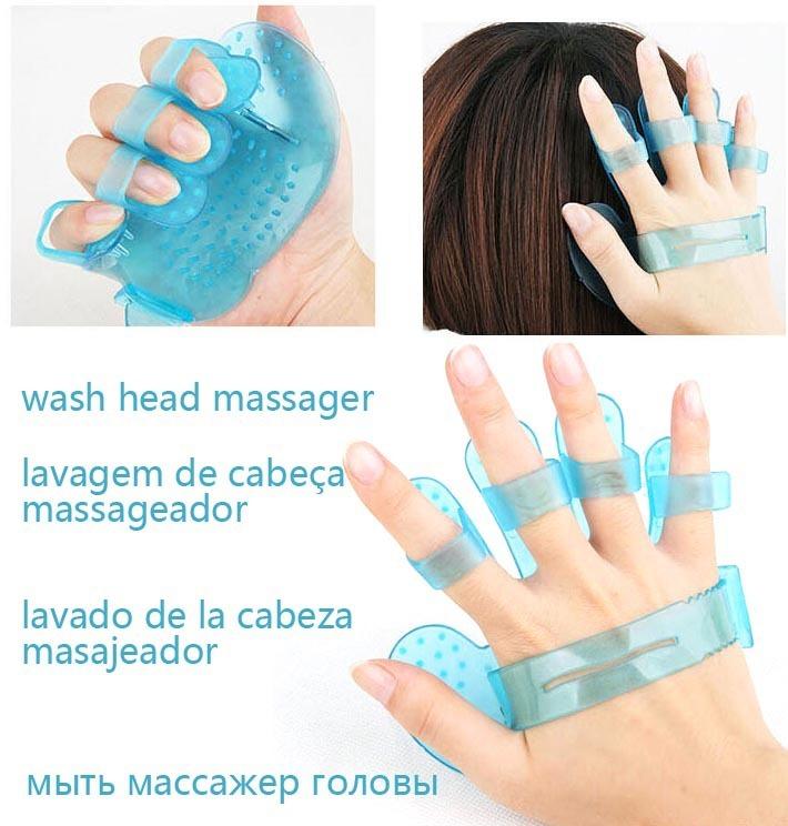 1Pcs head massager soft wash head massage Silicone Body faster stop itch Head Massager blood circulation good sleep(China (Mainland))