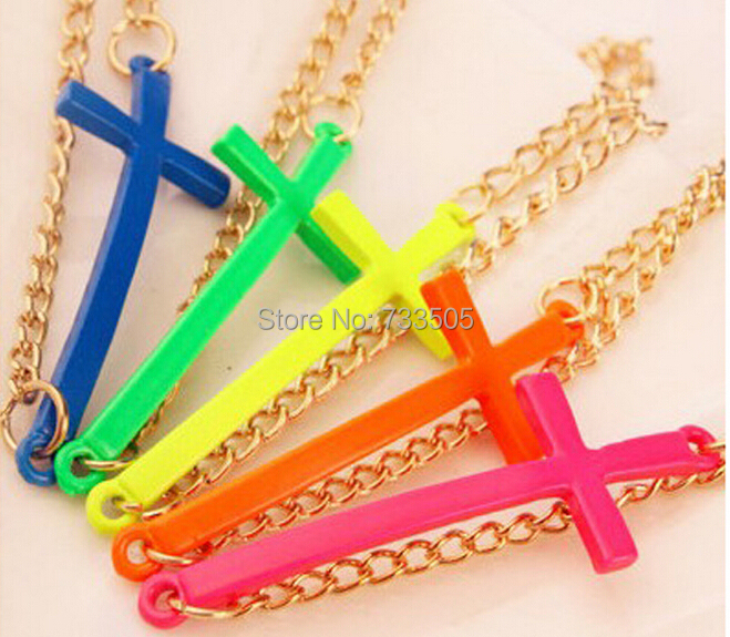 2015 New Fashion Colorful Jewelry Simple Metal Punk Style Cross Bracelet F017 - Fantasy 4 Store store
