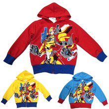 Autumn/winter Transformers cartoon boys hoody girls jacket kids coat clothing for 90-140cm children outerwear sweater/sweatshirt(China (Mainland))