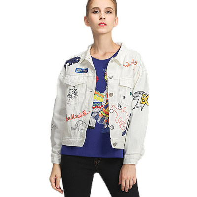 White Jean Jacket Womens - Coat Nj
