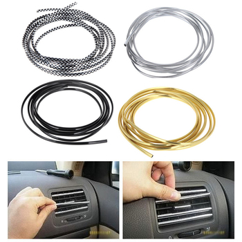 4 colors 3M/Lot(Volume) DIY Car Interior Air Conditioner Outlet Vent Grille Chrome Decoration styling Strip Car-styling