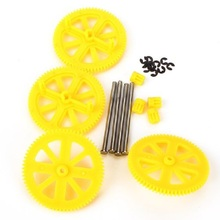 4PCS New 35mm Motor Pinion Gears & Shafts For Parrot AR Drone 2.0 Quadcopter Spare Parts Yellow