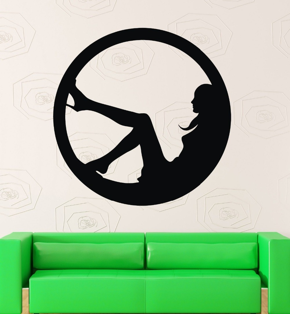 Sexy Girl Club Sticker naked Decal Muurstickers Posters Vinyl Wall Decals Pegatina Quadro Parede Decor Mural Sexy Girl Sticker(China (Mainland))