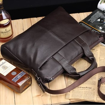 2015 New Arrival! leather briefcase bag men's genuine leather men leather messenger bag laptop bag,free shipping
