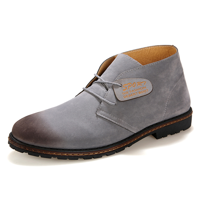 5 Color US Size  New Trendy Comfort Leather Like  Ankle Boots Men's Winter Oxford Shoes