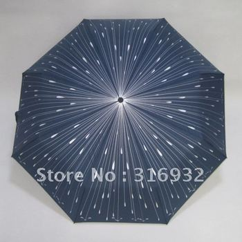 Free shipping Creativity folding clear umbrella Creative Romantic  meteor rain Manual umbrella