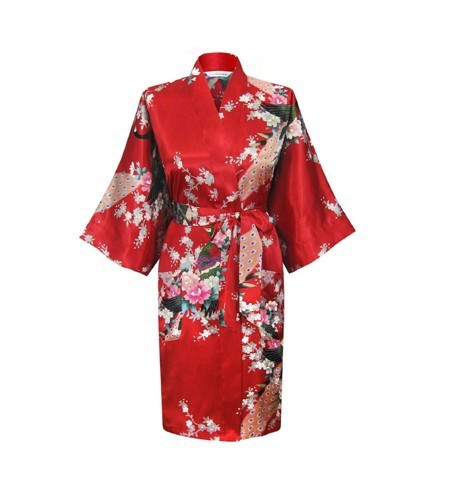 Продвижение Красный Шелковые Женские Пижамы Новый Летний Гостиная Ночная рубашка ...