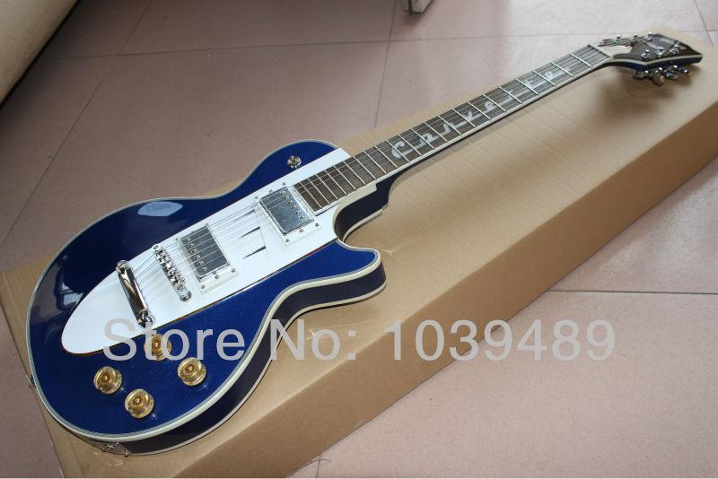 Bright white blue 1960 Corvette custom shop guitar guitar inventory for free shipping(China (Mainland))