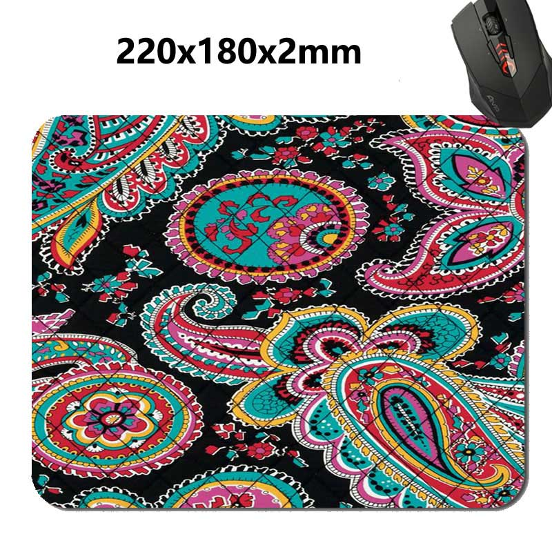 Best Fashion Paisley Vera Bradley Pattern Rectangular Gaming Mouse Pad 180 x 220 x 2mm Rectangle Non-Slip Gaming Mouse Pads 9...(China (Mainland))